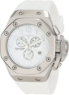 Swiss Legend Men's 10541-02-WA Trimix Diver Chronograph White Dial Watch