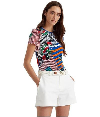 LAUREN Ralph Lauren Flags and Stripes Stretch Cotton Tee