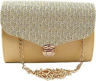 PEKIAN Women's Sling Bag (PK-76_Gold)