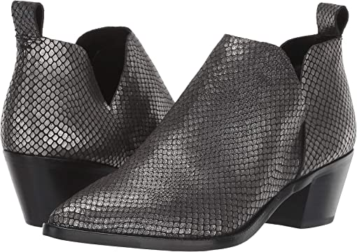 Gunmetal Snake Print Leather