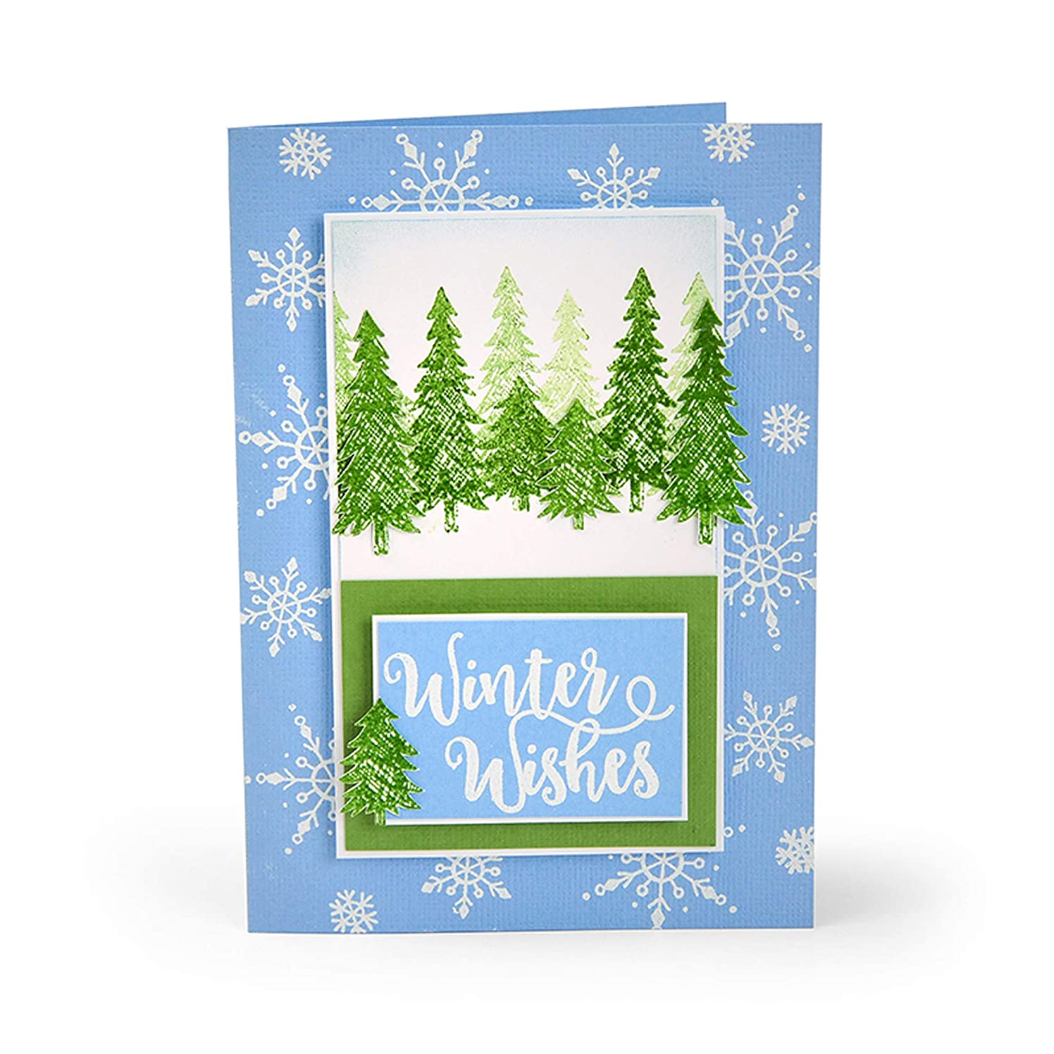Sizzix 663614 Winter Phrases by Katelyn Lizardi Stamps, us:one Size, Multicolor