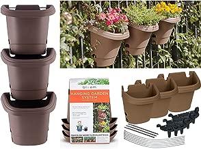 Bloem Hanging Garden Planter System 3 Pack, Chocolate (482125-1001)