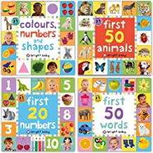 Easy Learning, Preschool, Lift-the-Flap Tab Books Collection 3 Books Set by Roger Priddy (Colours, Numbers and Shapes, First 20 Numbers, First 50 Words)