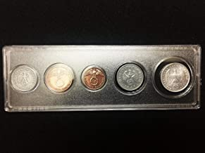 DE 1939 Rare WW2 German Coins Set with Secure Display Case Historical WW2 Artifacts Perfect Circulated