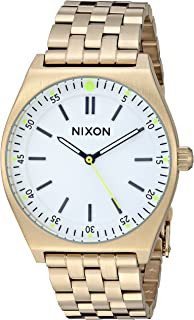 Nixon Women's Crew Japanese-Quartz Watch with Stainless-Steel Strap, Gold, 18 (Model: A1186504)