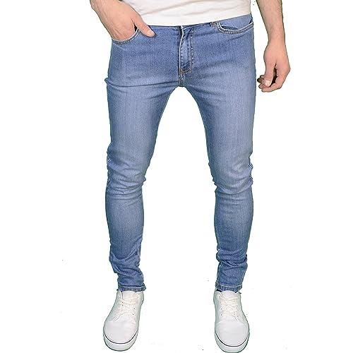 05a92ff6f01 Enzo Mens Designer Super Stretch Skinny Fit Jeans