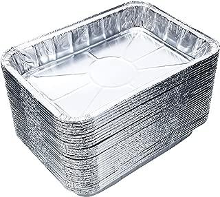 DOBI (20-Pack) Toaster Oven Pans - Disposable Aluminum Foil Toaster Oven Pans, Standard Size - 8 1/2