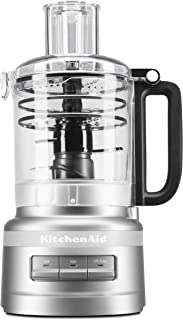 KitchenAid KFP0919CU 9 Cup Plus Food Processor, Contour Silver (Renewed)