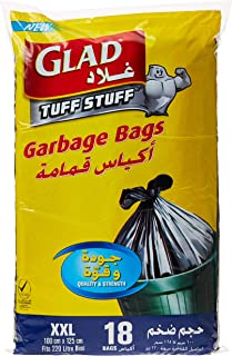Glad Tuff Stuff Garbage Bags, XX-Large, 220 Litres - 18 Count (Pack of 1)