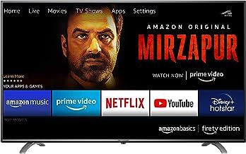 AmazonBasics 127cm 50 inch Fire TV Edition 4K Ultra HD Smart LED TV AB50U20PS Black