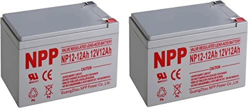 NP12-12Ah with F2 Style Terminals 12V 12 Ah Rechargeable Sealed Lead Acid Battery / 2 Pack