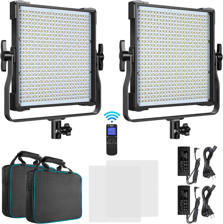 Switti 2-Pack LED Video Light Tulsa Mall CRI Dimmable unisex 3000K-8000K Bi-Color