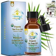 Organic Tea Tree Essential Oil - 100% PURE USDA Cert. Antifungal, Antibacterial, Therapeutic, All-Natural Extract for Arom...
