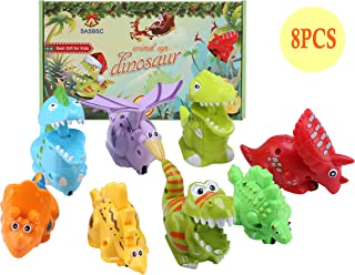 SASBSC Dinosaur Toys for 3 4 5 6 Year Olds Boys Girls Wind up Dinosaur Toys Set Party Favors for Kids 8 Packs