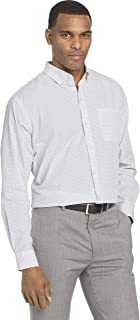Men's Wrinkle Free Poplin Long Sleeve Button Down Shirt