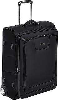 AmazonBasics Expandable Softside Rolling Luggage Suitcase With TSA Lock And Wheels - 28 Inch, Black