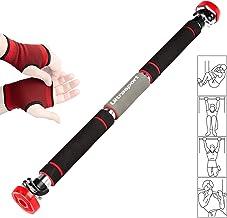 Ultrasport Optrekstang, deurrek, pull-up bar, boven-, arm- en buiktrainer, individueel instelbaar, voor deuren van 62-103 ...