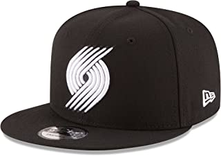 New Era NBA Portland Trail Blazers Men's 9Fifty Snapback Cap, One Size, Black