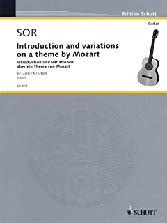 Introduction and Variations on a Theme of Mozart, Op. 9: Guitar Solo