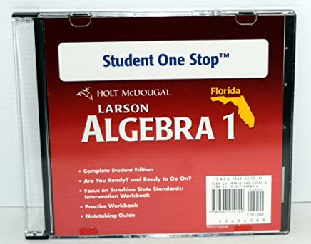 Geometry One-Stop, Grades 9-12: Holt McDougal Larson Algebra 1 Florida