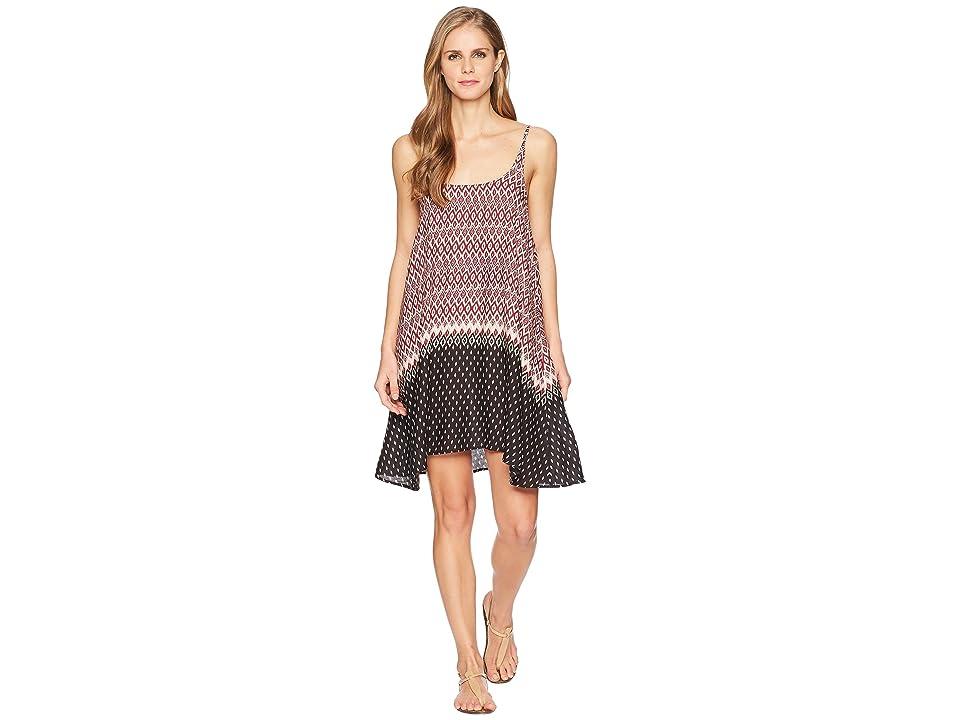 Stetson 1588 Border Print Rayon Slip Dress (Wine) Women