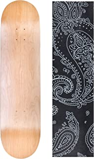 """Cal 7 Natural 8"""" x 31.75"""" Skateboard Deck with Graphic Grip Tape"""