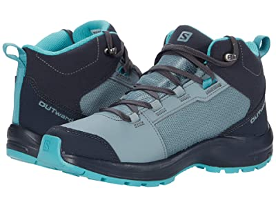 Salomon Kids OUTward CSWP (Little Kid/Big Kid) (Lead/Ebony/Meadowbrook) Kid