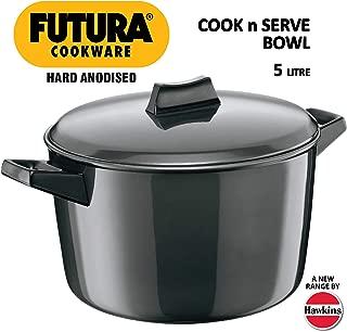 Hawkins/Futura L65 Hard Anodised Cook and Serve Stewpot/Bowl, 5-Liter