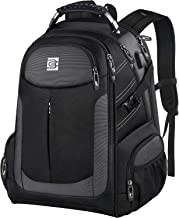 کوله پشتی مردانه ، کوله پشتی کوله پشتی مسافرتی بزرگ لپ تاپ مسافرتی بزرگ TSA هدایای مردانه با پورت شارژ USB ، مقاوم در برابر آب ضد سرقت ، مدرسه کیف دانشکده کیف کتاب مناسب 15.6 اینچ لپ تاپ ، سیاه