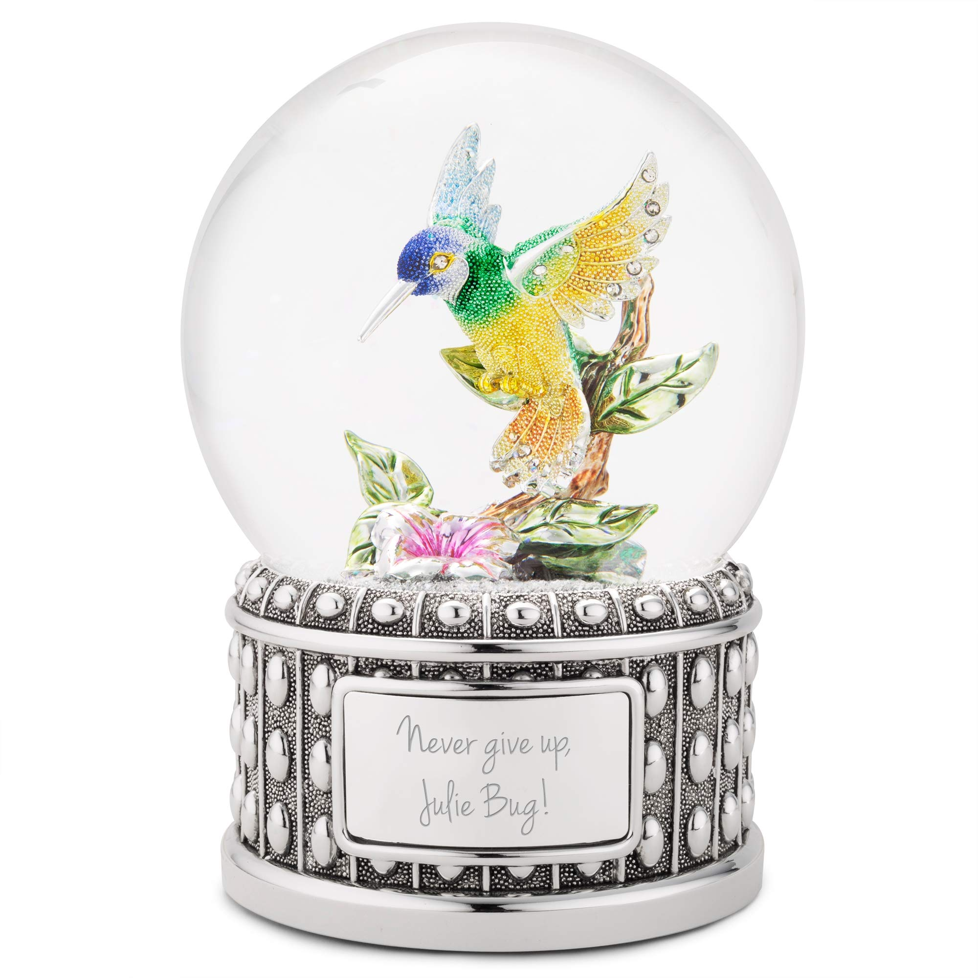 Image of Personalized Hummingbird Musical Water Globe