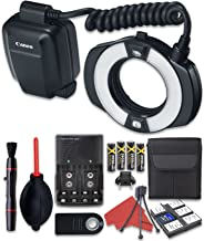 Canon MR-14EX II Macro Ring Lite with Cleaning Pen + Dust Blower + Remote Control + Battery Charger + Cleaning Kit