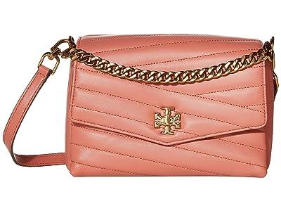 Tory Burch Kira Chevron Crossbody (Toasted Pecan) Handbags