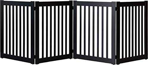"""product image for Dynamic Accents Amish Craftsman Highlander Series Solid Wood Pet Gates are Handcrafted 32"""" High - 4 Panel/Black"""