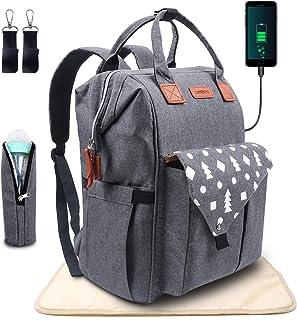 comprar comparacion Umitive Mochilas de Pañales para Bebé, Maternal Bolso Multifuncional con USB de Viaje, Gran Capacidad, Impermeable, Enviar...