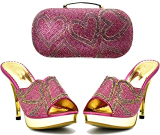 COOL Store Fashion Shoes and Bag Set Italy for African ASO EBI Wedding Party Shoes Bag,41