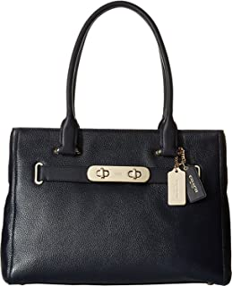 NEW AUTHENTIC COACH POLISHED SWAGGER SATCHEL (Navy)