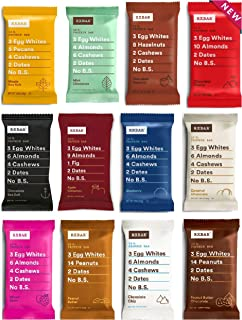 RXBAR Real Food Protein Bar, Variety Pack, Gluten-free, 1.83 oz, (Variety, 24 Count)