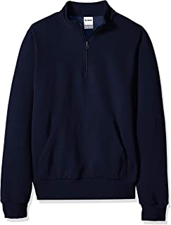Soffe Men's Solid Mock Quarter Zip Sweatshirt,