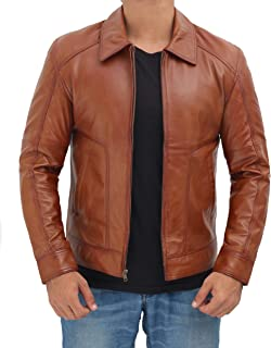 Classic Biker Leather Jacket for Men - Real Lambskin Mens Leather Jackets