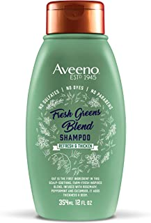 Aveeno Scalp Soothing Fresh Greens Blend Shampoo, rosemary,peppermint 12 Fl Oz