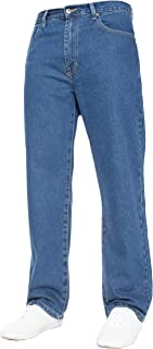 Mens Straight Leg Jeans Basic Heavy Duty Work Denim Trousers Pants All Waist Big Sizes in 4 Colours