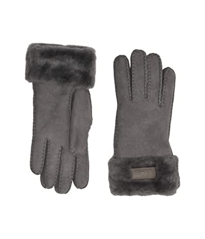 UGG Turn Cuff Water Resistant Sheepskin Gloves (Charcoal) Extreme Cold Weather Gloves