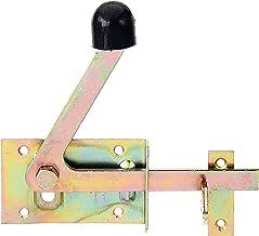 GAH-Alberts 210397 tuinpoortgrendel | speciaal voor smalle framebalken | elektrolytisch geel verzinkt | 100 x 60 mm