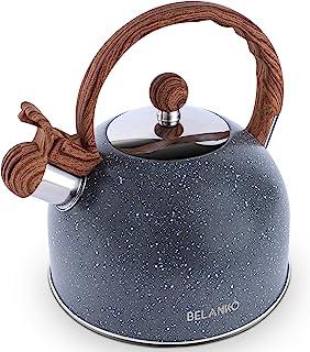 Tea Kettle, 2.3 Quart Tea Pot BELANKO Whistling Water Kettle, Food Grade Stainless Steel Teapot for Stovetops Gas Electric...