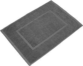 valneo Scendibagno in Puro Cotone Grigio, 50x70cm di Prima qualità 800 g/m² - Tapetino per Bagno, Tappeto da Doccia