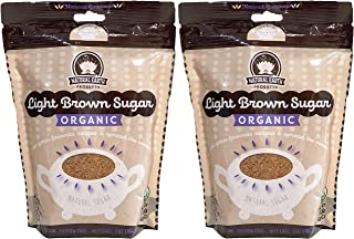 Natural Earth Products - Organic Light Brown Sugar - Vegan, Gluten-Free, Nut-Free, Fat-Free, Kosher - 1.5LB (2-Pack)