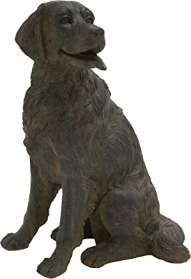 Plutus Brands Lifelike Fiberglass Dog Figurine