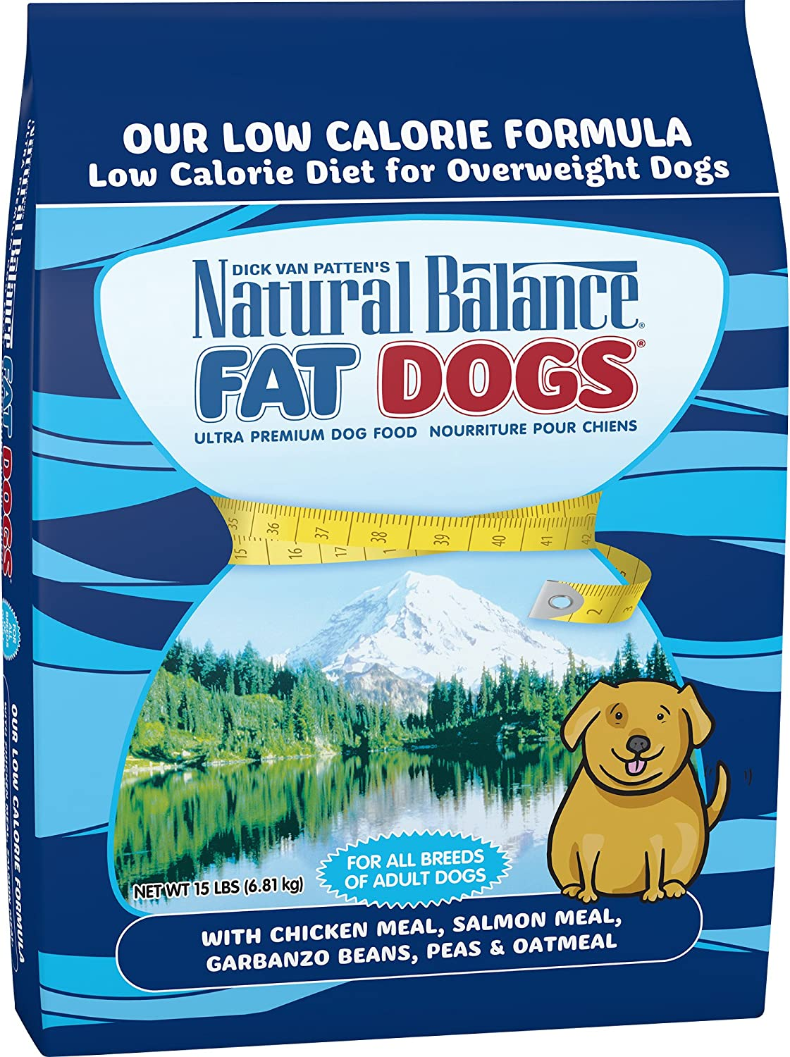 Natural Balance Fat Dogs Low Calorie Dry Dog Food, 15Pound