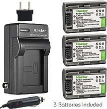 Kastar Battery (3-Pack) and Charger Kit for Sony DVD HandyCam DCR-DVD105 DCR-DVD202E DCR-DVD203 DCR-DVD203E DCR-DVD205 DCR-DVD305 DCR-DVD403 DCR-DVD405 DCR-DVD408 DCR-DVD505 DCR-DVD910 DCR-DVD92
