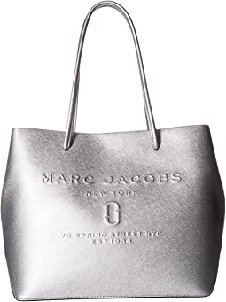 Marc Jacobs Logo Shopper Metallic East/West Tote